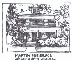Martin Residence Card Graphic Arts Completed 2005